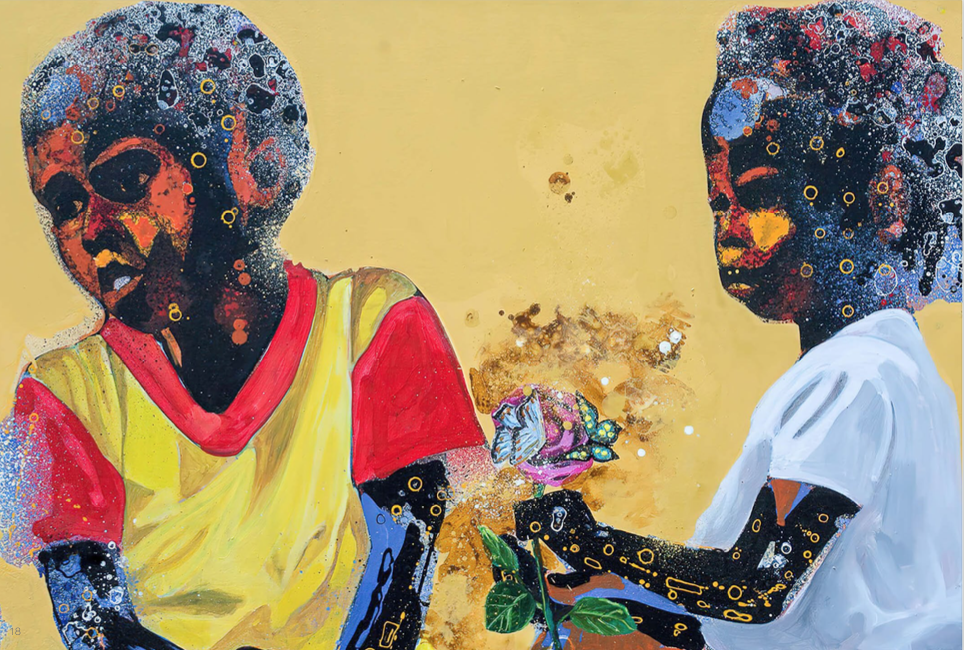 Prince Galla Gnohitè, time is love, Out of Africa Gallery, art and about africa, contemporary african art, art map, mapping africa, africa in spain, out of africa gallery